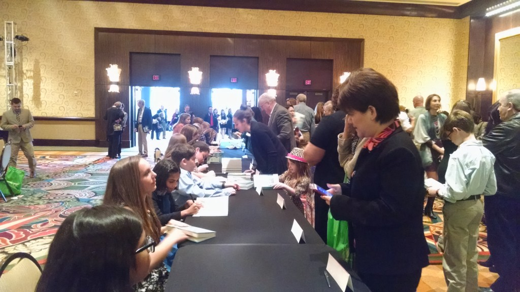 Authors and illustrators signing their books. photo credit: Valerie Sweeten